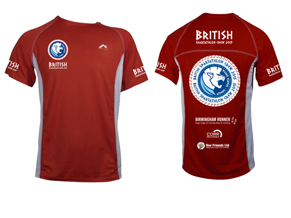 2015 British Spartathlon Crew T-Shirts