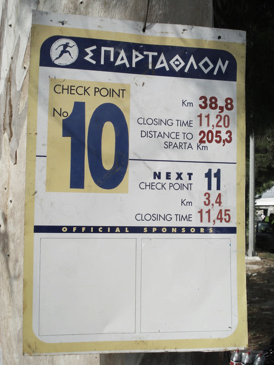 2015 British Spartathlon Team Checkpoint Sign