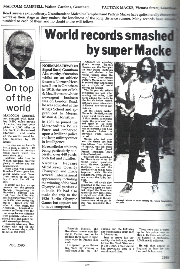 2015 British Spartathlon Team Patrick Macke Article
